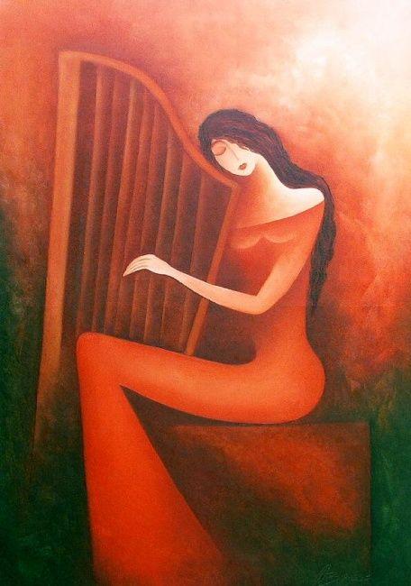 Melancholie (Painting), 70x100 cm by Anita Burnaz Oil on ...