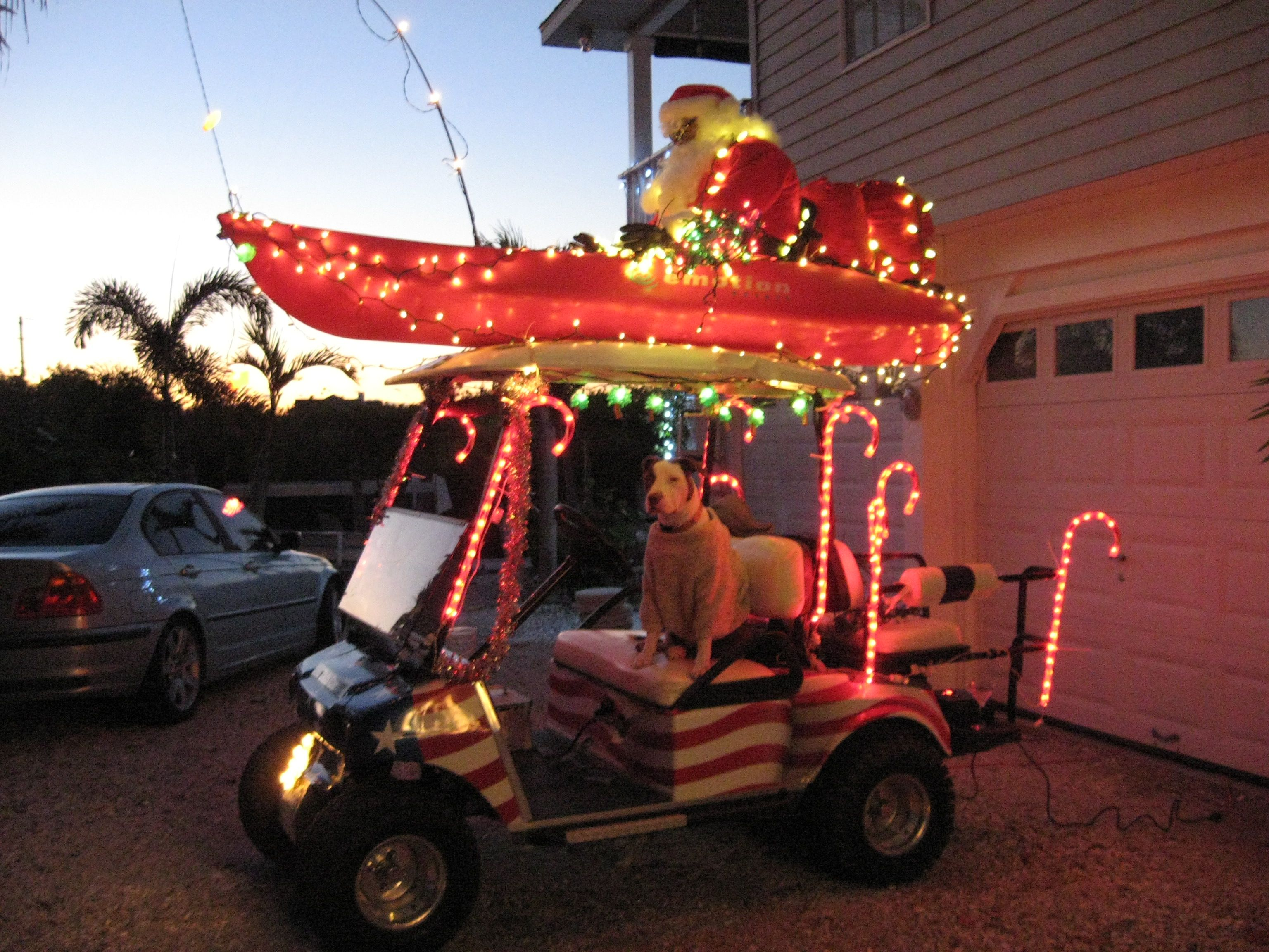 Golf Cart Christmas Decorations.Golf Cart Parade On Terra Ceia Island Xmas Island Style