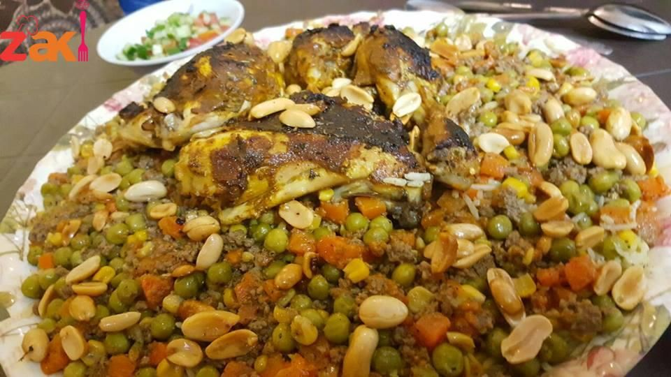 أوزي دجاج مشوي Recipes African Food Cooking