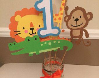 Jungle birthday banner safari birthday banner zoo party banner