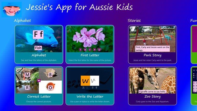 Jessie's App // for Aussie Kids is an Australian made app