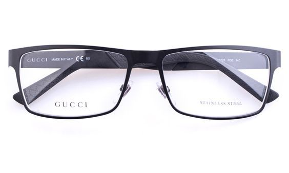 8bed58d4406 Gucci GG2228 Stainless steel Mens Square Full Rim Optical Glasses for  Fashion