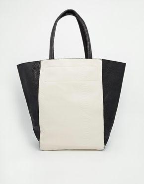 Shape  Warehouse Mock Croc Shopper Bag