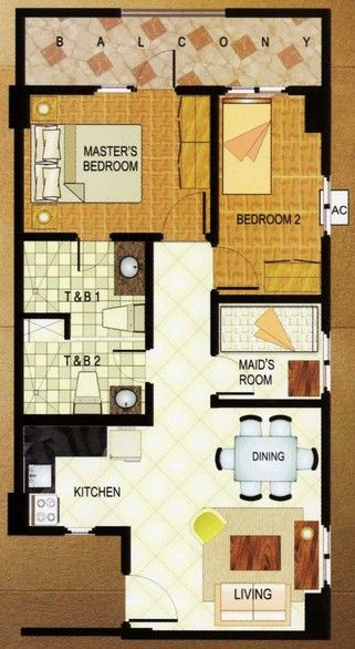 East Raya Gardens 2 Bedroom Special Unit Floor Plan Manilaproperties Condoforsale Realestate Www Mymanilacondo C My House Plans Maids Room Corridor Design