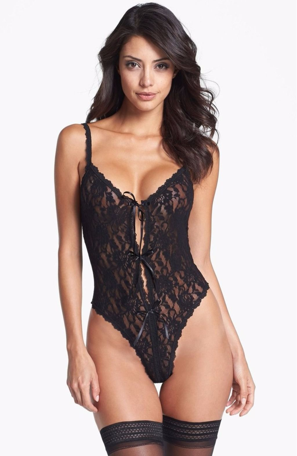 6c0b27eb65b2 HANKY PANKY SIGNATURE LACE OPEN GUSSET TEDDY BLACK $69 - - FREE WORLD  SHIPPING - BEST PRICES GUARANTEED AT SPANO LINGERIE SHOP -  spanolingerie.selz.com