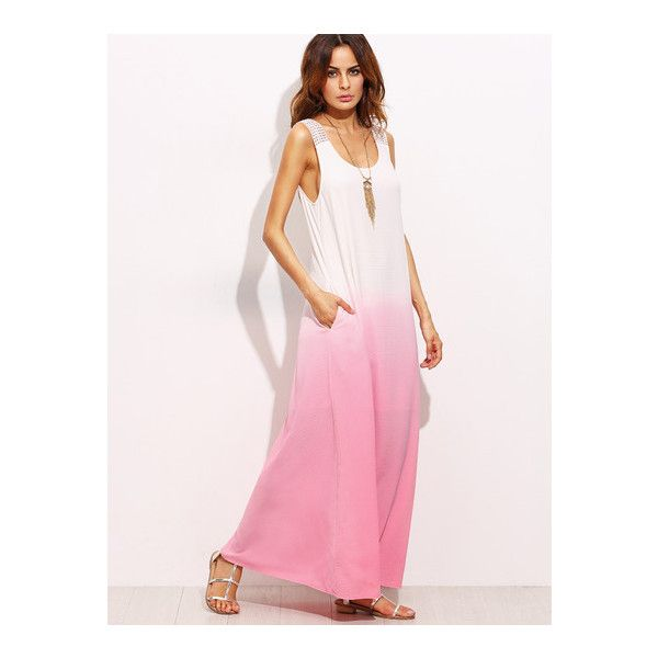 SheIn(sheinside) Ombre Tie Back Sleeveless Maxi Dress (68.980 COP ...