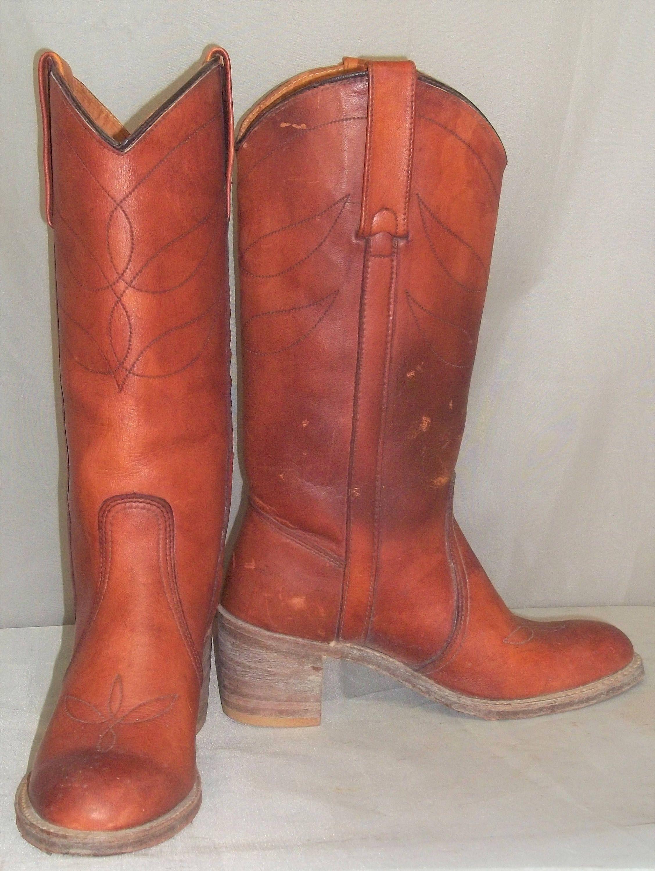 776d40fadb0 Vintage Miss Capezio BOHO Leather Cowboy Boots Womens 6 M by ...