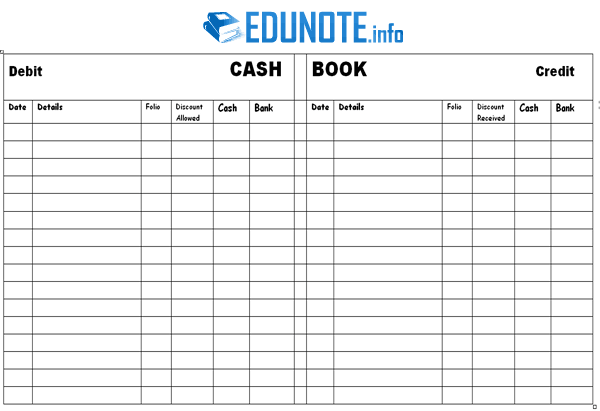 What Is Cash Book In Accounting With Diagram Book Template Books Cash