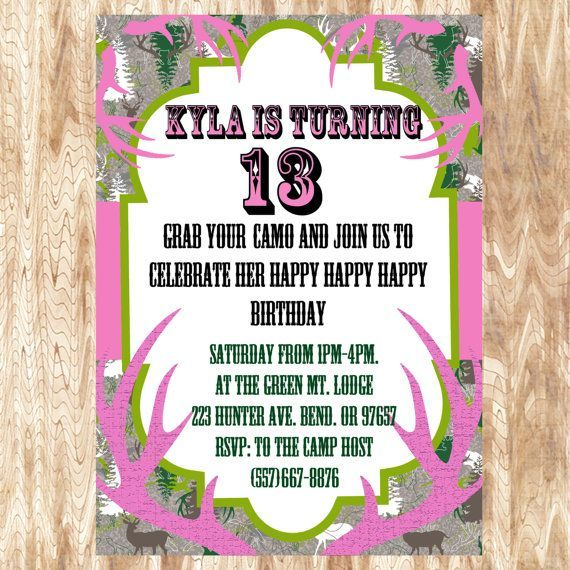 Camo Birthday Invitations Templates Ideas Invitations By