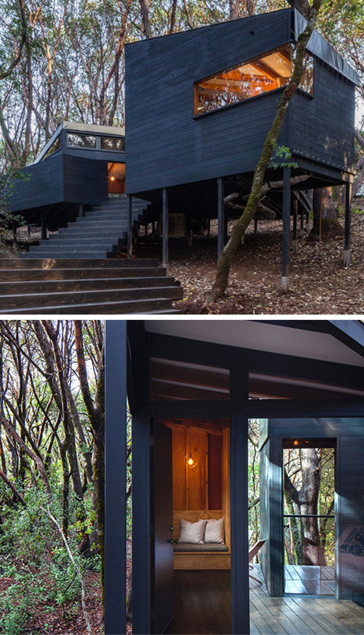 Forest House A Tented Roof Retreat For Families Forest House Architecture Design Roofing