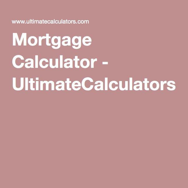 Mortgage Calculator - UltimateCalculators Mortgage Tips - excel mortgage calculator