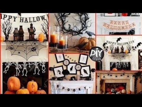 DIY Halloween Mantel Decorating Ideas - Fall Room Decor Fall room
