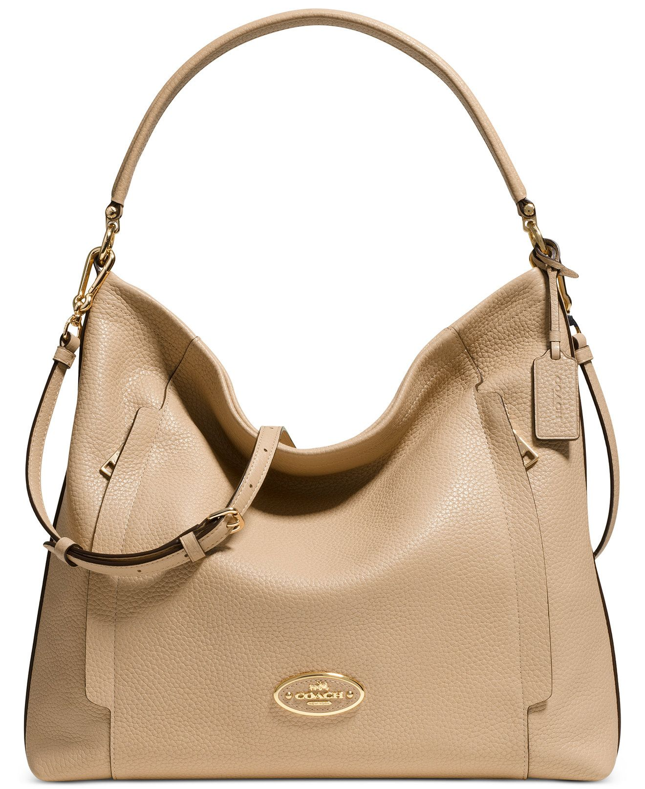 COACH LARGE SCOUT HOBO IN PEBBLE LEATHER Coach Handbags