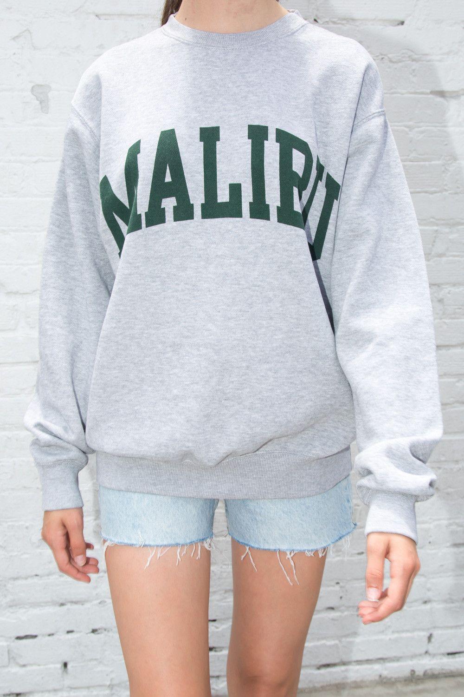 Erica Malibu Sweatshirt Graphics Sweatshirts Oversized Outfit Clothes [ 1500 x 1000 Pixel ]