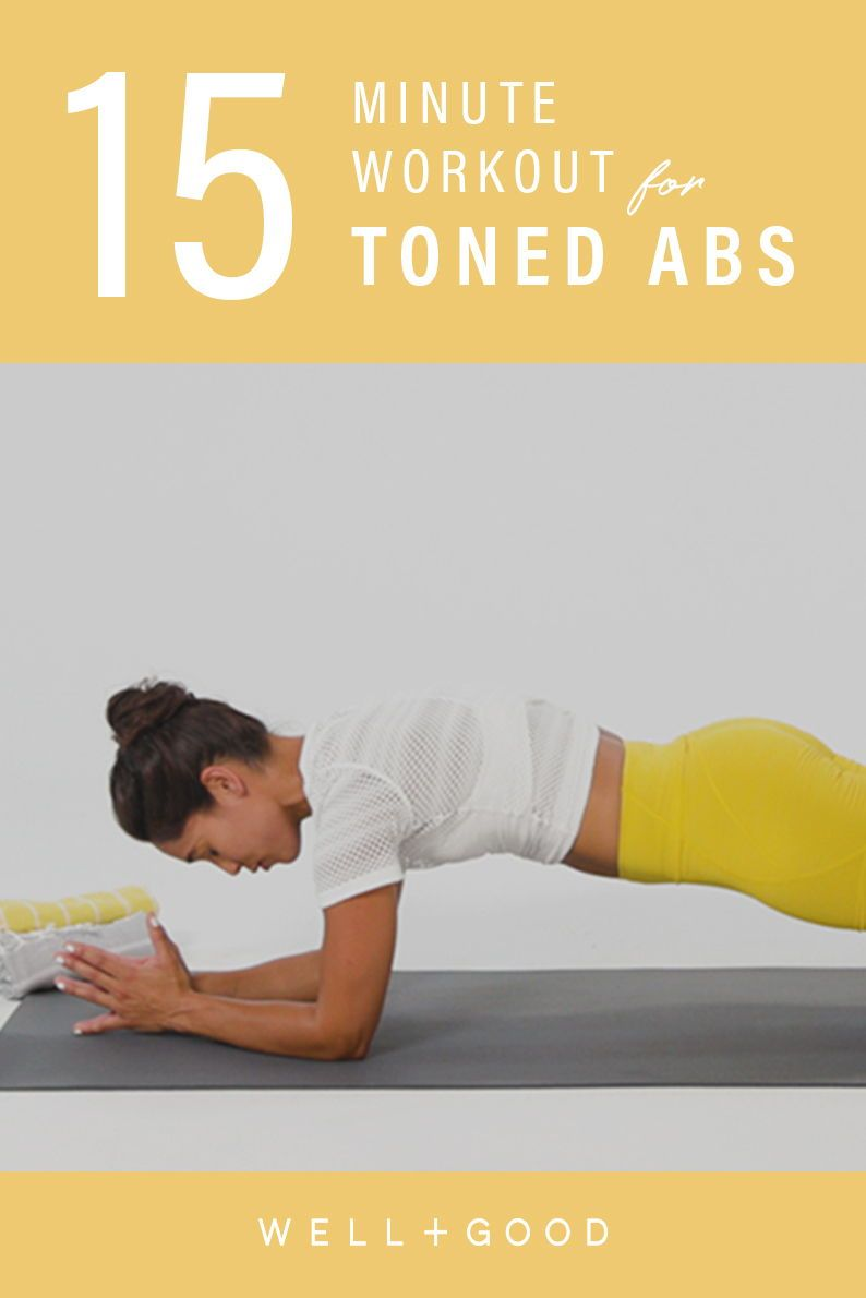 This 15-minute ab workout will fire up your entire core | Well+Good