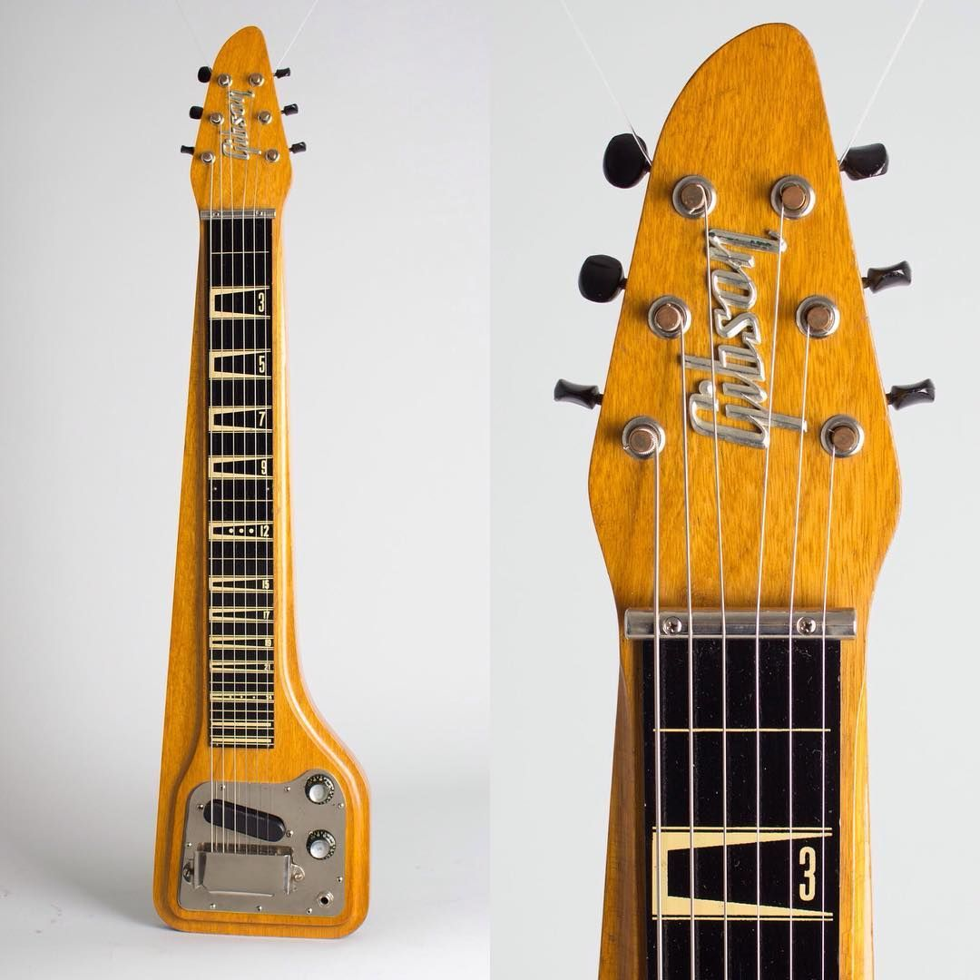 Retrofret Vintage Guitars On Instagram Wow I Could Have Been A Flying V Just Arrived A 1963 Gibson Skylark Lap Steel Electric Guitar In Its Original Brown