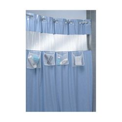 Hookless Shower Curtain With Mesh Pockets Mesh Allows For