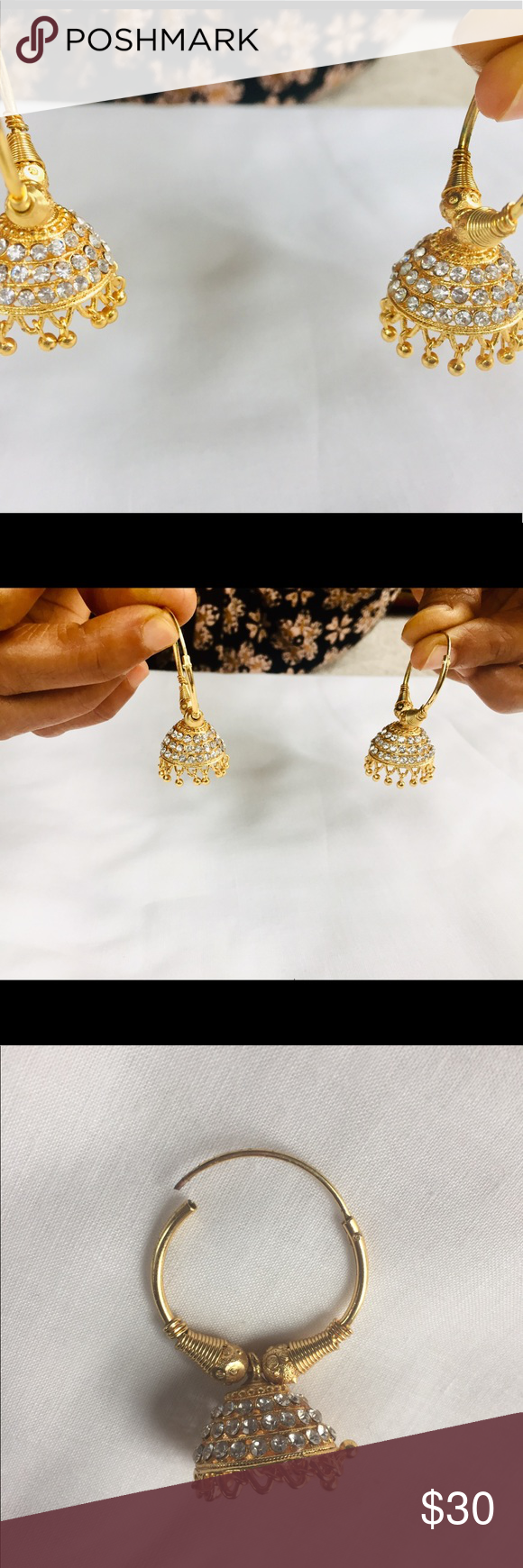 Spotted while shopping on Poshmark: Hoop Jhumka Earrings! #poshmark #fashion #shopping #style #Jewelry