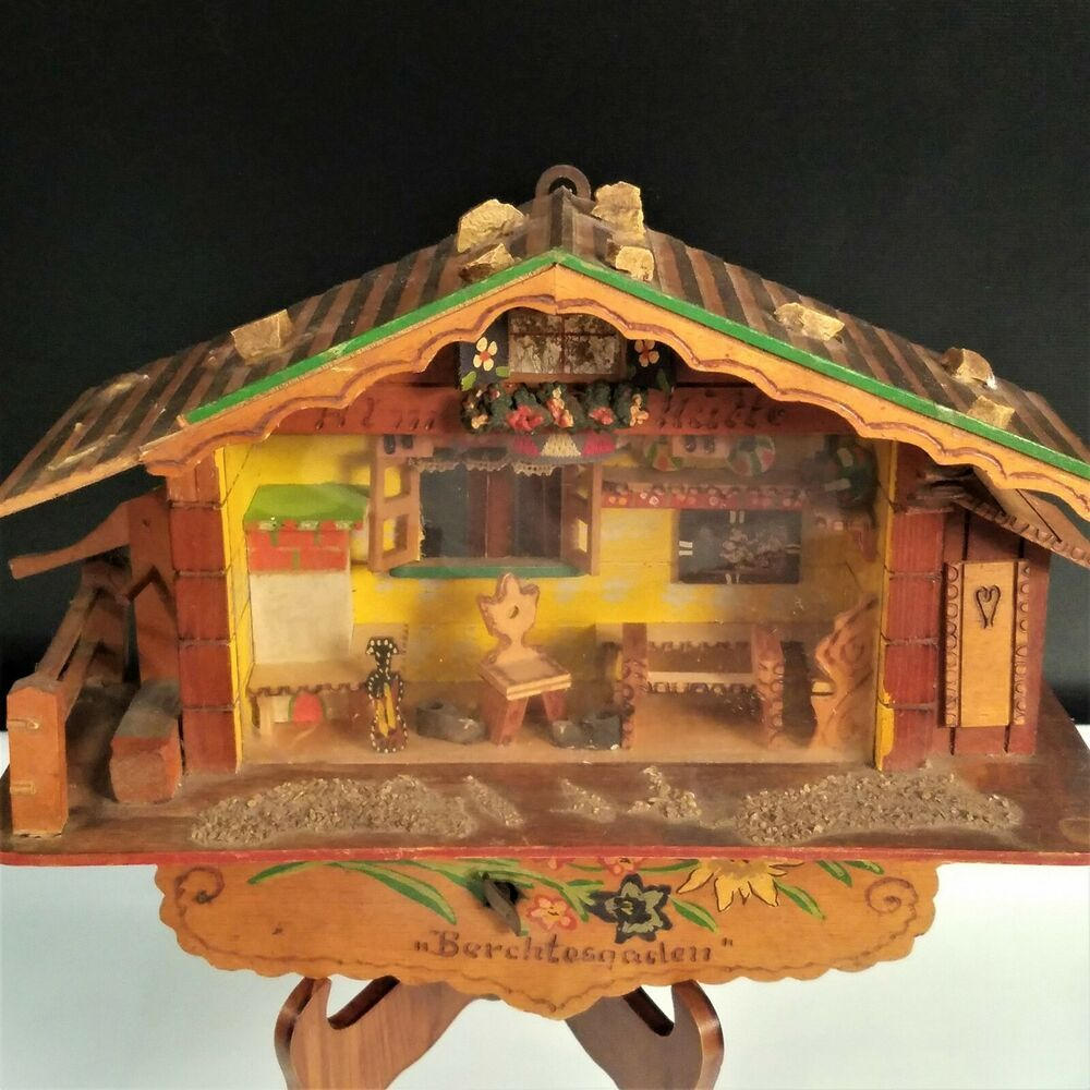 Vintage Reuge Swiss Mountain Cabin Chalet Cottage House Wall Decor Flaw Ebay In 2020 Music Box Vintage Vintage Reuge Cottage Homes