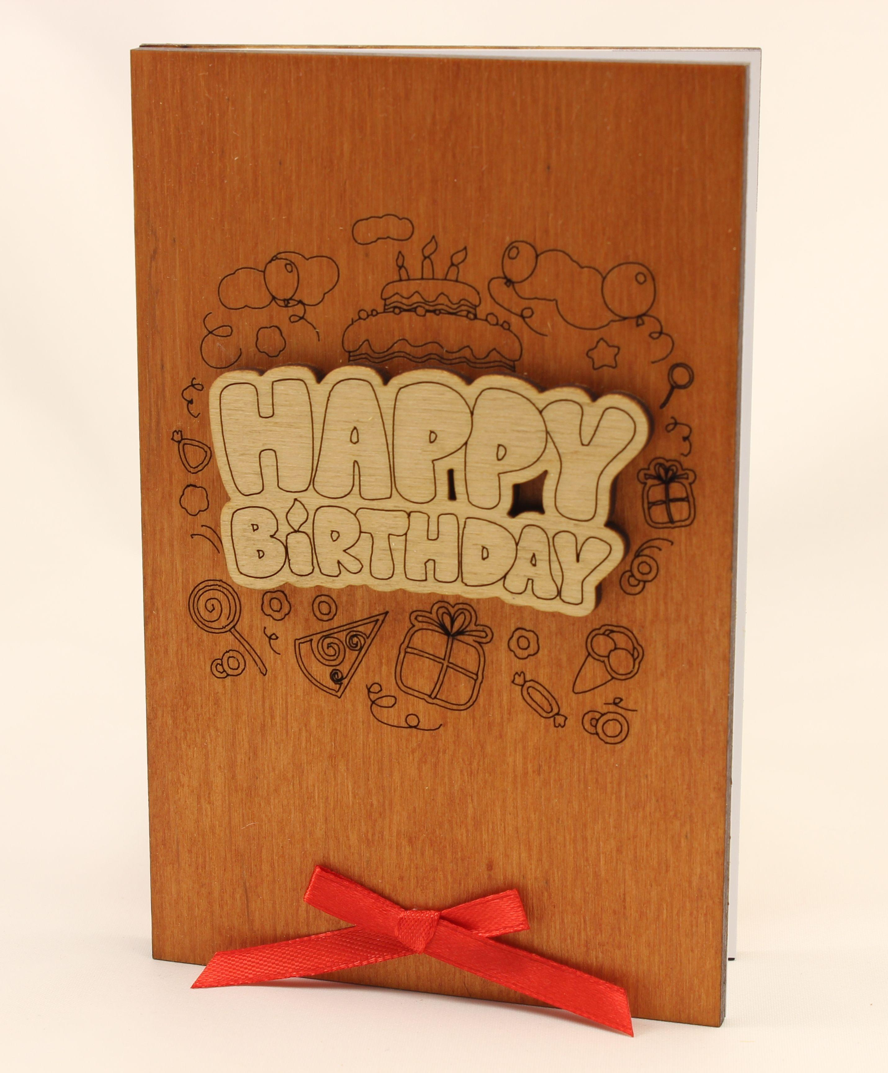 Handmade Happy Birthday Card Original Gift For Him Husband Man Her Wife Woman On ETSY