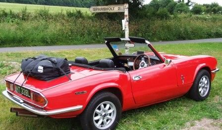 Boot Luggage Rack for the Triumph Spitfire. Bootbag is a waterproof luggage bag that simply straps to the boot lid of your Triumph Spitfire