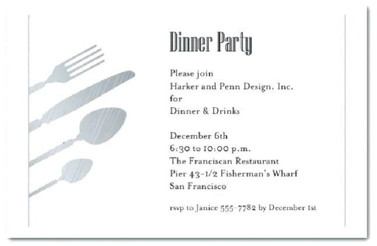 Formal Invitation For Lunch Party Party Invitation Card In 2019