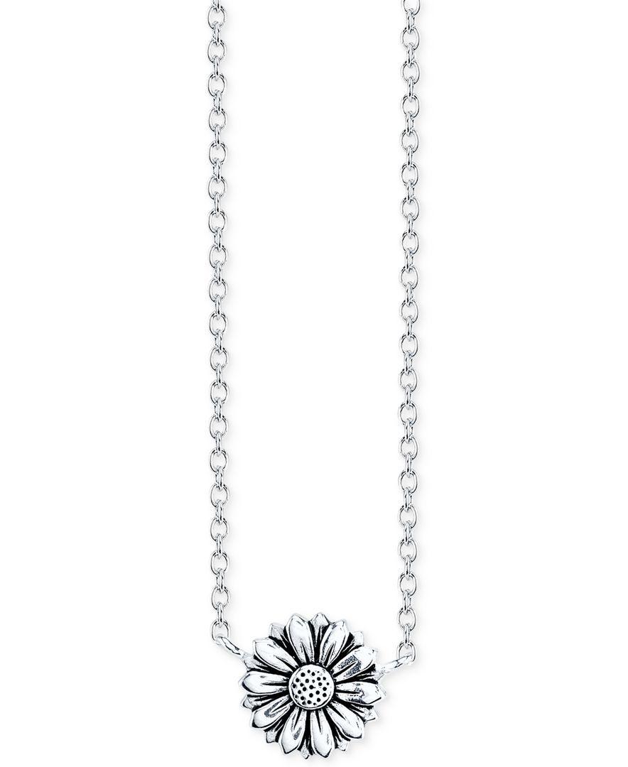 Unwritten sunflower pendant necklace in sterling silver girasoles unwritten sunflower pendant necklace in sterling silver necklaces jewelry watches macys aloadofball Gallery