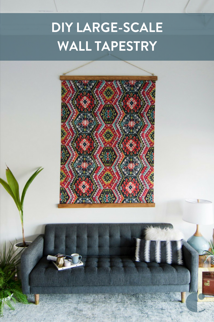 Diy Large Scale Tapestry Wall Art You Won T Believe How Simple And Affordable This Project Is Plus It S Gorgeous Huge