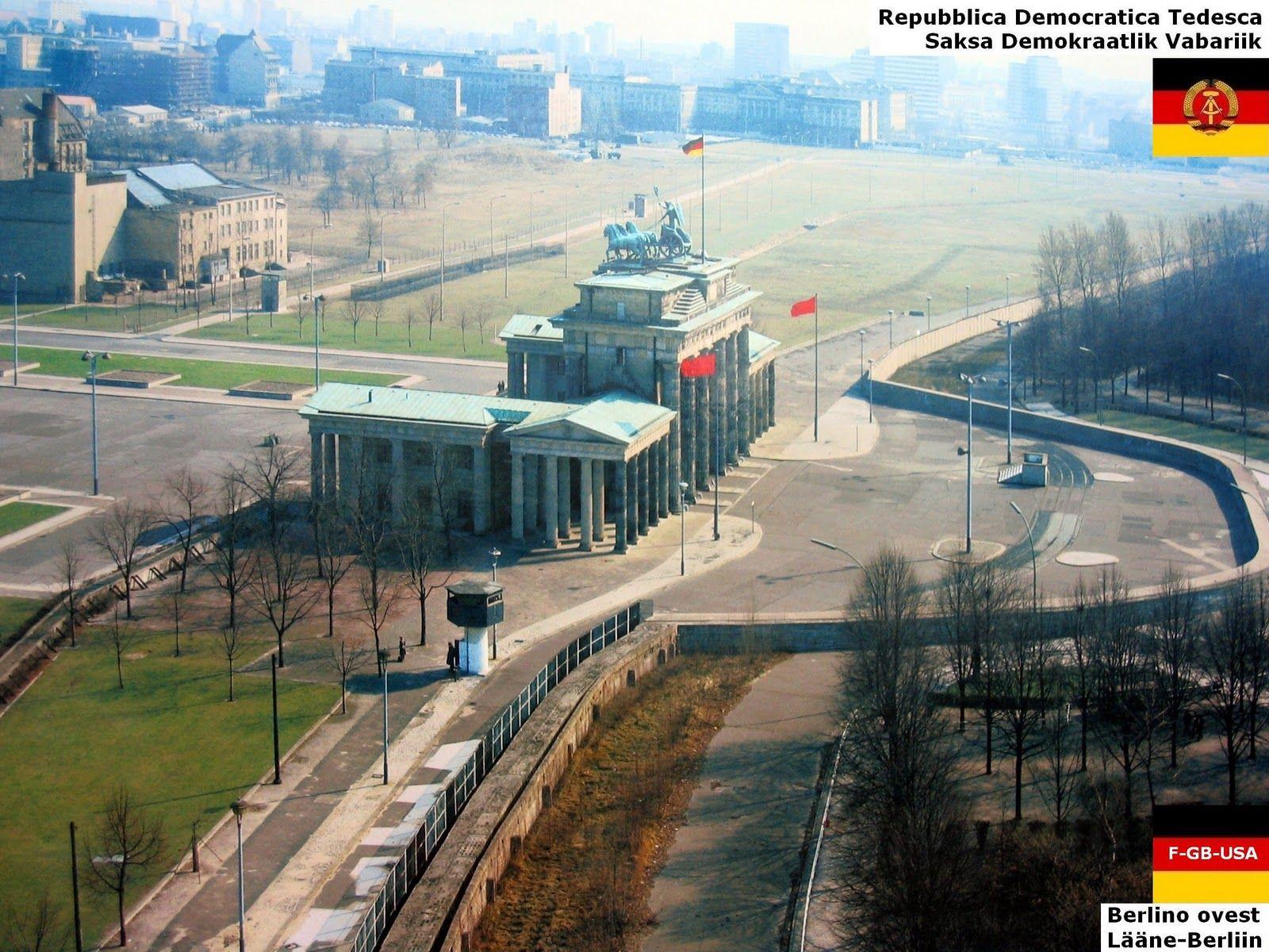 1988 Dd De Ida Saksamaa Saksamaa Rdt Germania Dell Est Germania Berlin Wall West Berlin Germany