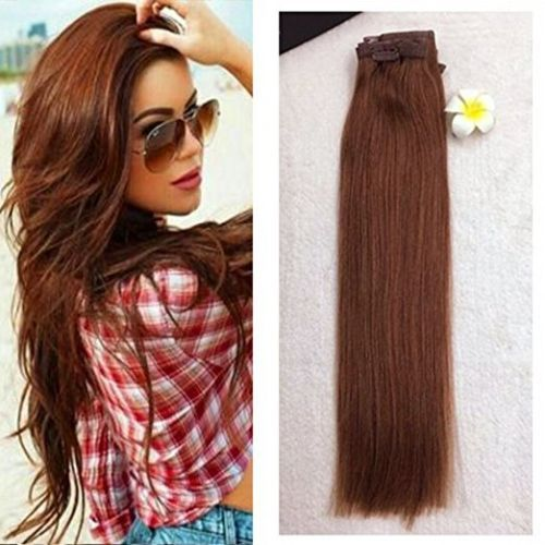 30 auburn hair extension clip in human hair seamless extension pu auburn hair extension clip in human hair seamless extension pu tape clip ins in health beauty hair care styling hair extensions wigs pmusecretfo Images