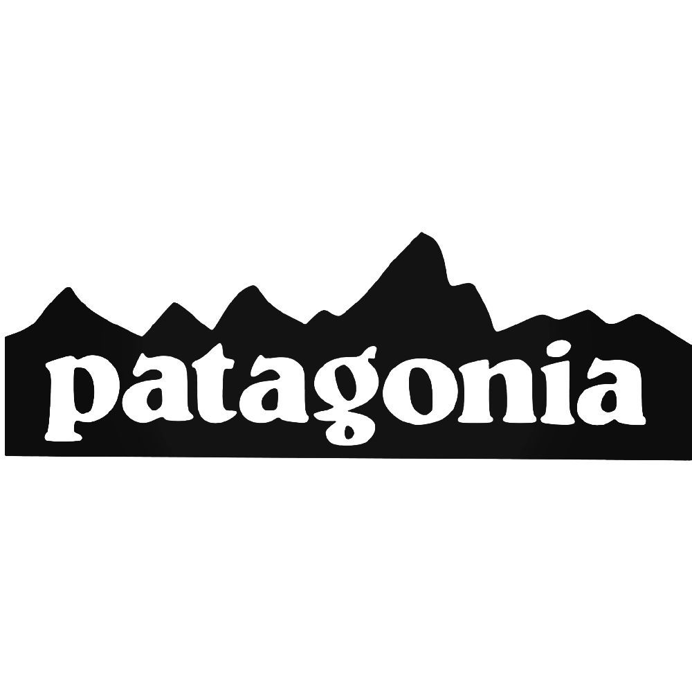 patagonia mountain logo vinyl decal sticker patagonia mountains rh pinterest co uk patagonia logo font free patagonia logo font name
