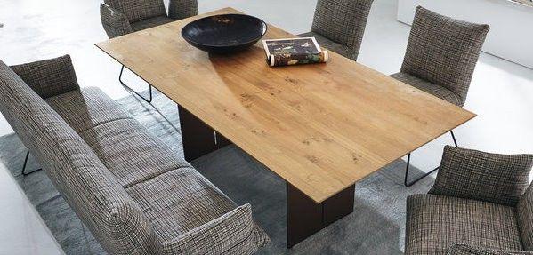 WK-Wohnen Esstisch Modell 851-6-MA   Tischplatte massiv   100 x