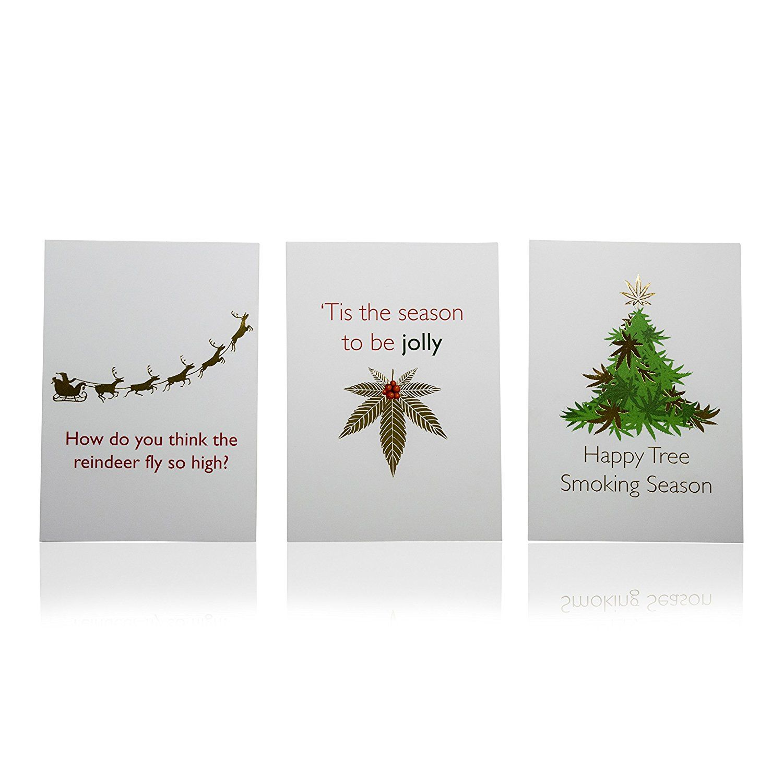 Amazon Tribetokes Cannabis Holiday Greeting Cards Funny