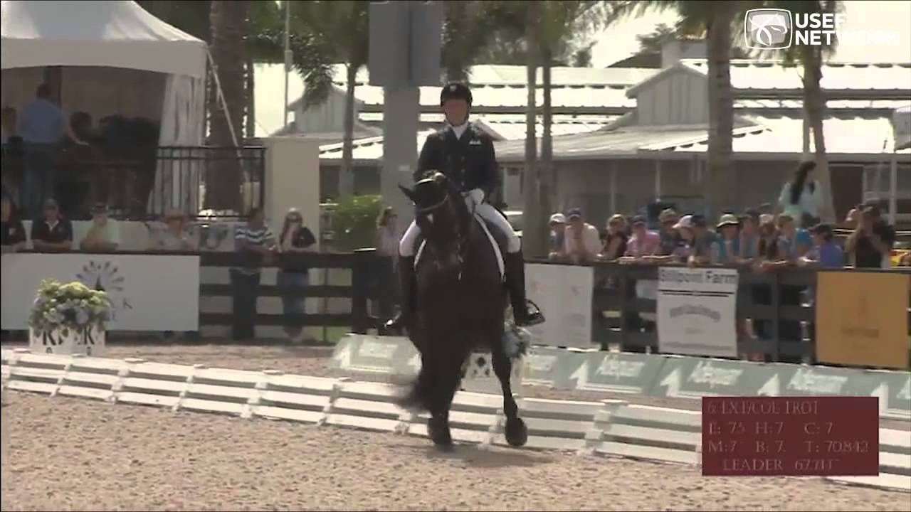 Kimberly Herslow & Rosmarin at the 2013 Wellington Dressage Nations Cup, via YouTube.  Click pin for video of performance.