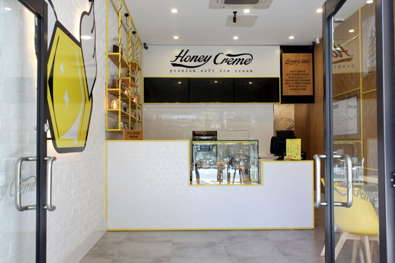 Honey Crme Soft Serve Ice Cream Australia Shopdesign Interiordesign