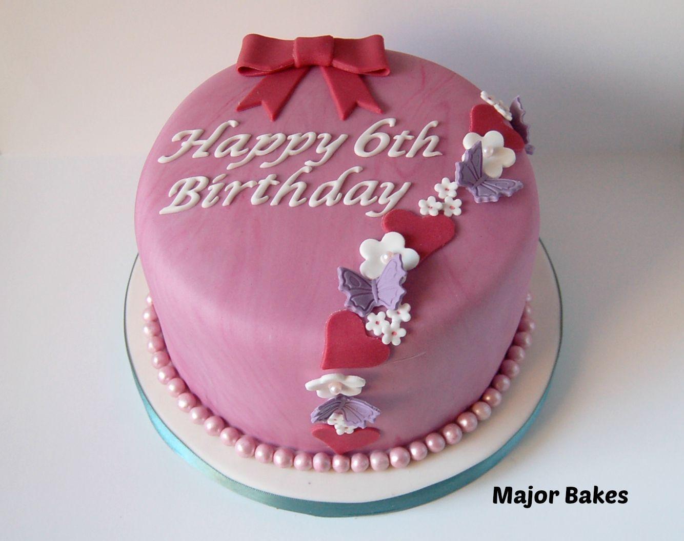 Girly birthday cake Celebration cakes by Major Bakes Pinterest