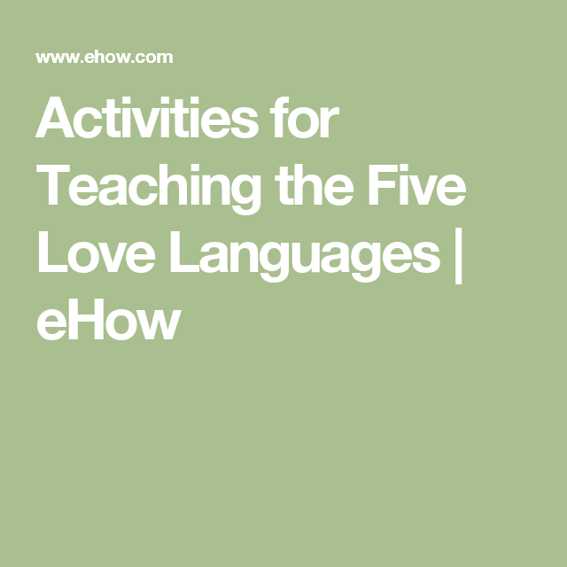 teaching the 5 love languages