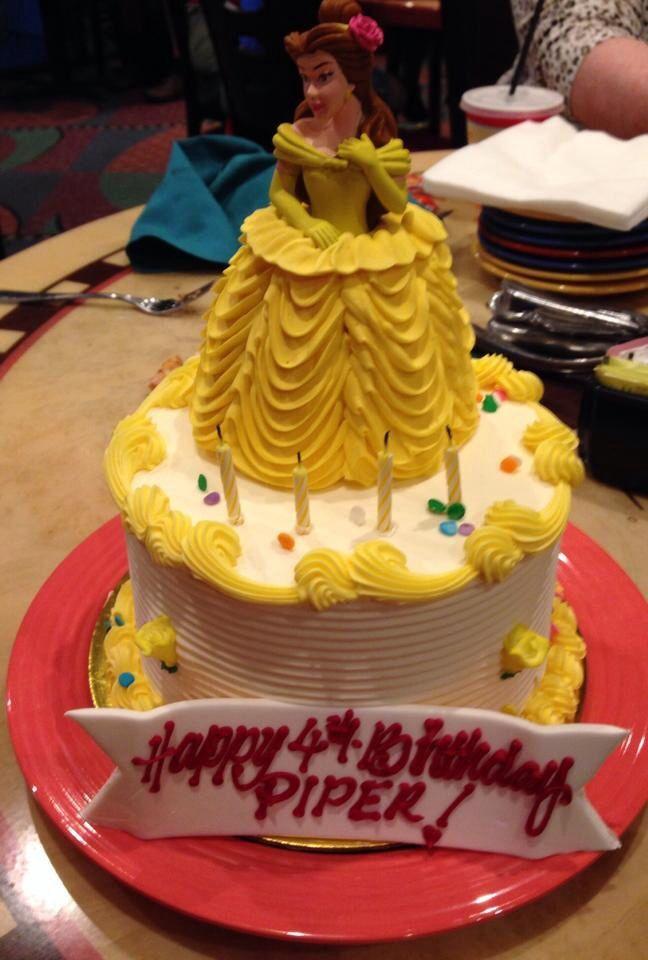 Disneyland Belle Princess Birthday Cake Party Time Pinterest