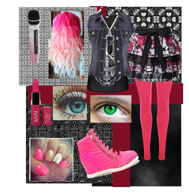 """Pop Punk"" by mentalasylum ❤ liked on Polyvore featuring WearAll, maurices, Bling Jewelry and NYX"