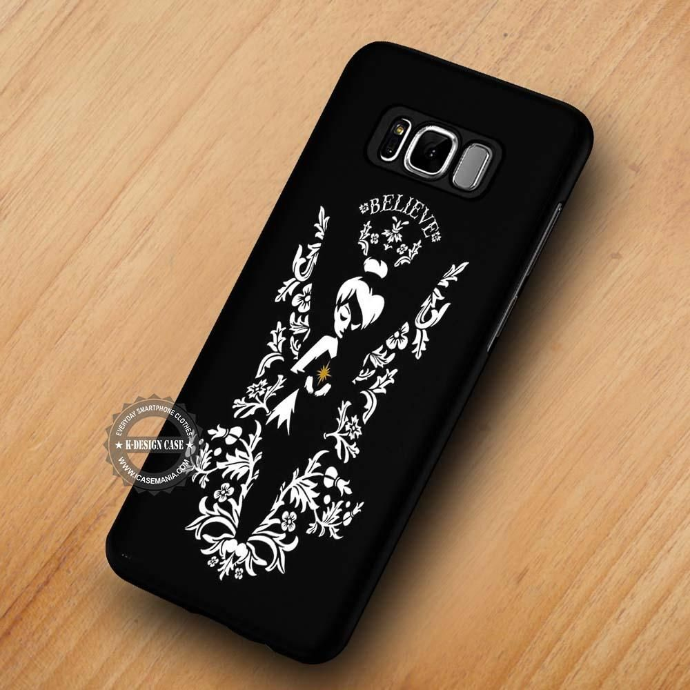 new styles f96bb cade7 Tinkerbell Believe Disney Quote - Samsung Galaxy S8 S7 S6 Note 8 ...
