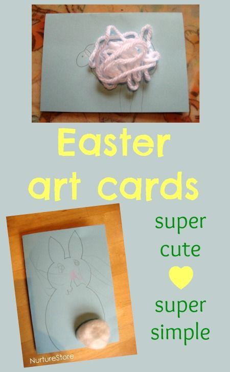 Easter bunny and spring lamb cards easter art art cards and easter super simple easter art cards for toddlers and young kids m4hsunfo