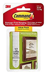 Command Picture & Frame Hanging Strips Value Pack Large White 12-Pairs (17206-12ES) - - Amazon.com