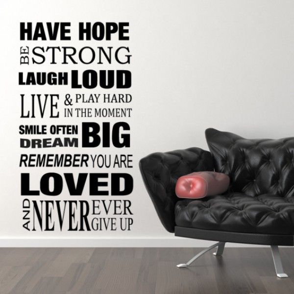 Have hope bold quotes art home decor wall sticker homedecor homedecorideas homedesigning motivational also best fun images decorating your furniture rh pinterest