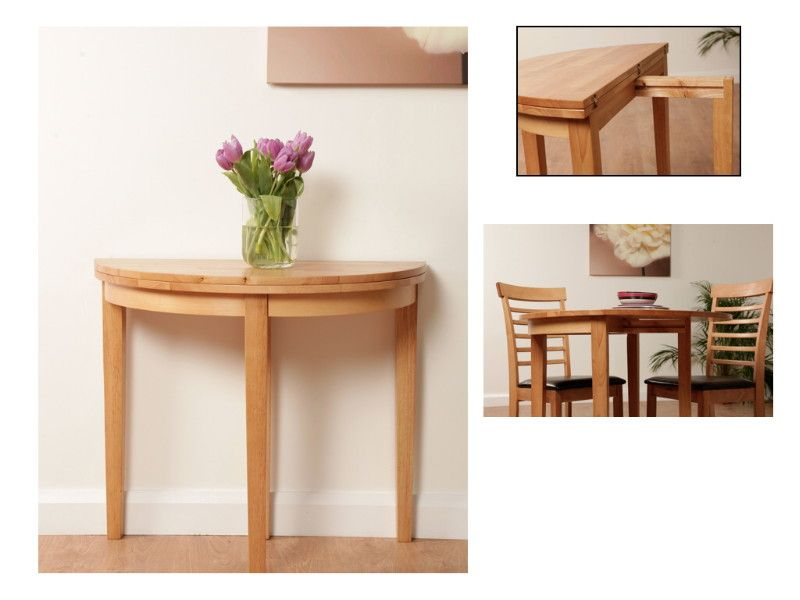 The Clandeboye Light Oak Half Moon Hall Tables Made From Solid Hardwood Are  Available From The Mld Furniture Online Store.