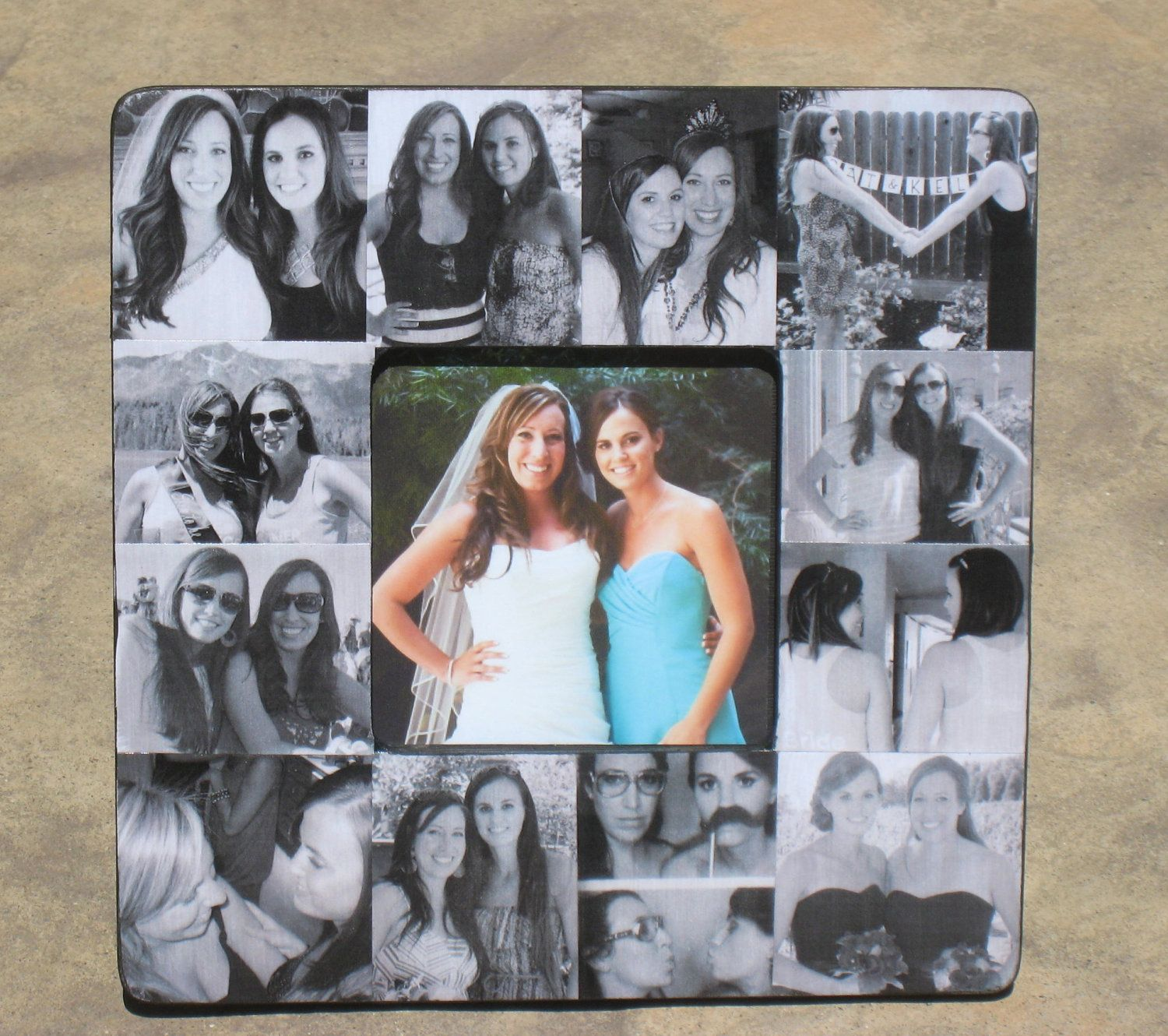Bridesmaid Collage Picture Frame, Personalized Sister Gift, Custom ...