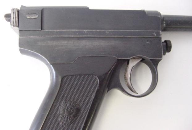 Brixia Model 1912 - 9mm Glisenti caliber pistol. Improved version of the Glisenti.
