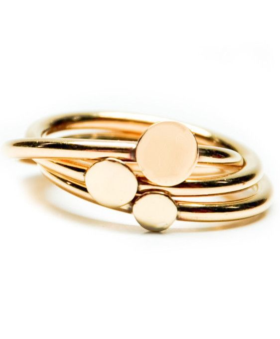 Stacking Dots Ring by LEIF