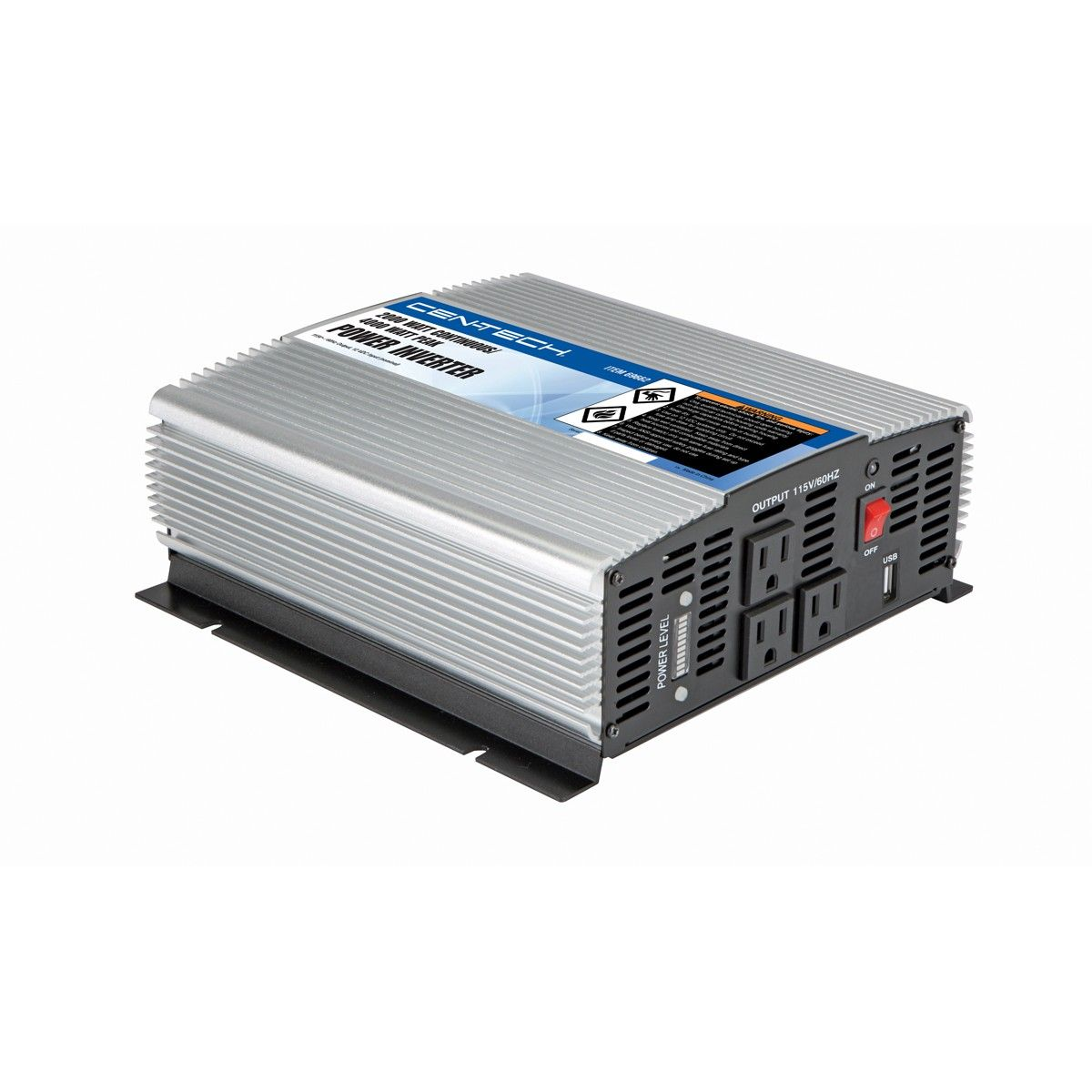 $129.99 Cen-Tech 69662 2000 Watt Continuous/4000 Watt Peak Power Inverter  Black Friday, #BlackFriday, #HarborFreight