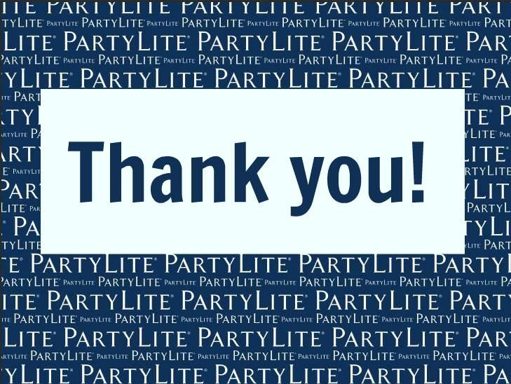 Thank You Partylite Blue 2017 Logo Partylite Party Lite Candles Online Party Games