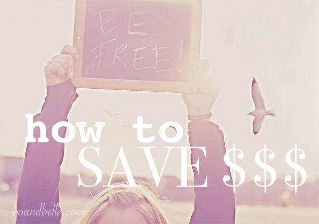 How to save some money: 10 easy tips.